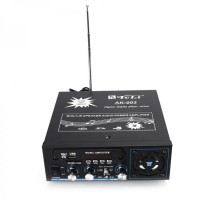 AK-003 Ac-Dc Səs Gücləndiricisi W / Usb / Sd / Fm / Digital Display / Mp3