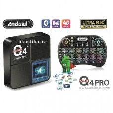 TV BOX Andowl Q4PRO ULTRA 6K WIFI 2,4 ГГц Y 5,0 ГГц 4 ГБ + 64 ГБ / Android 10