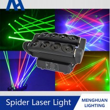 Led rgb spider laser moving head